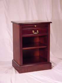 1 Drawer Pedestal with pull out shelf, open