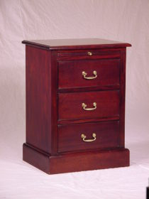 3 Drawer Pedestal with pull out shelf