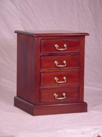 Small 4 Drawer Pedestal